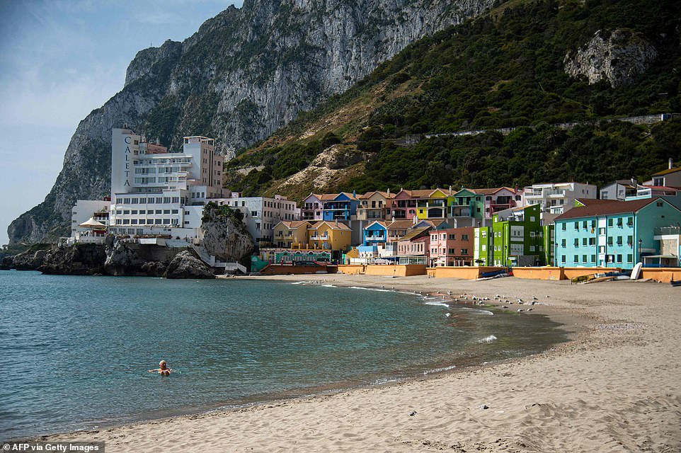 Families are set to get the go-ahead to take summer holidays in some popular European hotspots before the end of the month (Gibraltar pictured)